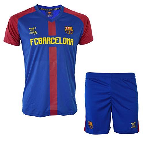 FC Barcelona Trikot + Shorts Barça, offizielle Kollektion, Kindergröße, Jungen 12 Jahre marineblau