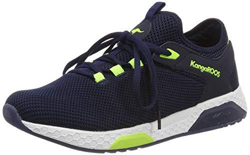 KangaROOS Unisex-Erwachsene Kadee Sock Sneaker, Blau (Dk Navy/Lime 4054), 42 EU