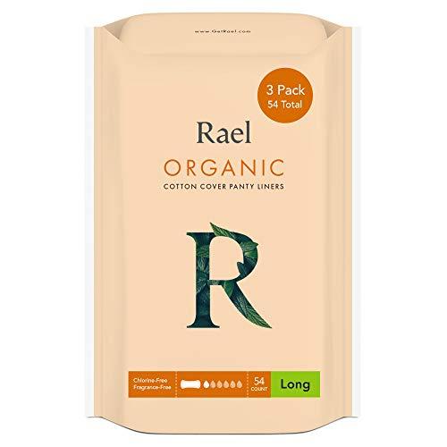 Rael Zertifizierte Organische Baumwolle Slipeinlagen, Regular - 3er Pack / 54er Pack - Geruchsneutrale Slipeinlagen (3er Pack)