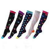 KANUBI Socken, mittelgroße Röhrensocken, Reine Baumwolle, Strümpfe, warme Socken, Weihnachtssocken, Bedruckte Socken für Männer und Frauen
