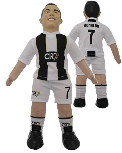 Vari Cristiano Ronaldo CR7 Camiseta Blanca Negra Figura MUÑECO Felpa Oficial 43cm Original Ballon dOr MUSEU