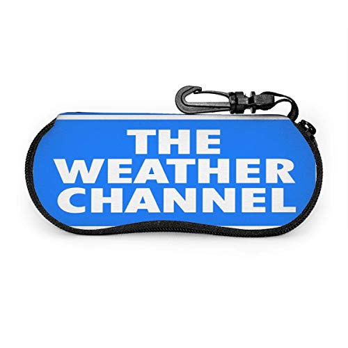 HHJJI The Weather Channel Gafas Estuche Gafas de sol Estuche blando Ultraligero Portátil Moda de viaje de neopreno