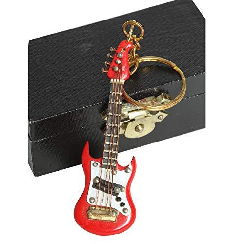 /N Softwarego 81022 - Llavero de guitarra eléctrica (7 cm), color rojo