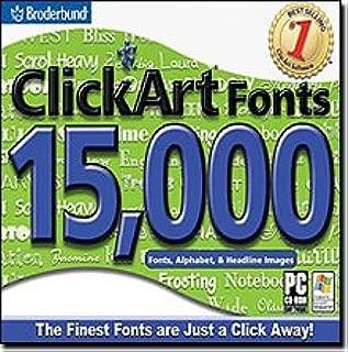 ClickArt Fonts 15,000, plus 300 Handwritten Fonts