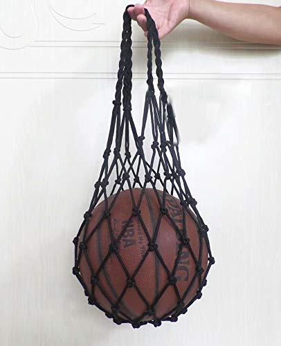 SANDIN für Basketball Multifunktionale Mesh-Aufbewahrungstragertasche Rugby Fußball Volleyball Fußball Verbesserte Hochleistungs-Sportball-Tragetasche 1-teilige Mesh-Balltasche Black