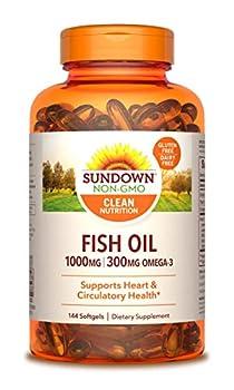Sundown Fish Oil 1000 mg 72 Softgels  Packaging May Vary