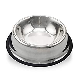 cyj Alimentador de Mascotas, Dog Cat Sólido y Duradero Acero Inoxidable Natural Saludable Antideslizante Limpio e higiénico Múltiples tamaños 5