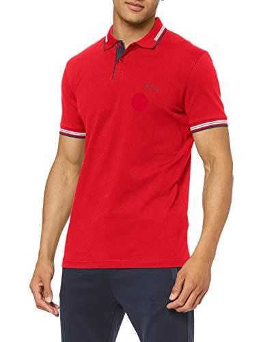 BOSS Herren Paul Curved Polo Shirt, Bright Red (624), XL EU