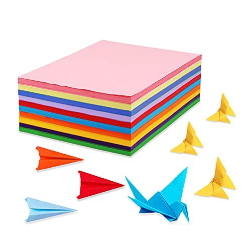 Tarjeta colorida A4, 100 hojas de colores gruesas, 230 g, papel A4 multicolor brillante, 10 colores surtidos, papel origami, artesanía y decoración, bocetos y papel de corte.