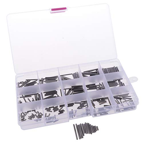 1 Box Von Feder-Dübel-Spannungs-Rolle-Pin-Metall-Hardware-Sortiment-Installationssatz - Silber M-2