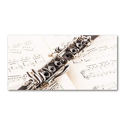 Tulup Cuadro en Lienzo - 100x50cm - Pintura - impresión Decorativa para la Pared - Imagen Decorativa - Impresión de Lienzo - Música - Clarinete