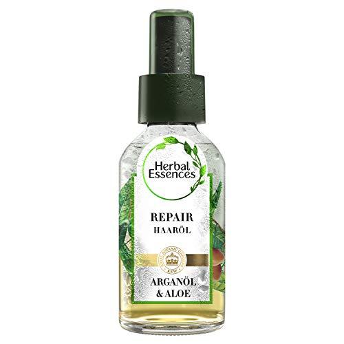 Herbal Essences PURE: renew Repair Haaröl, 100 ml, Mit Arganöl Und Aloe Vera, Haarpflege Arganöl, Haarpflege Glanz, Haarpflege Trockenes Haar, Argan Öl, Aloe Vera Haare, Ohne Silikon