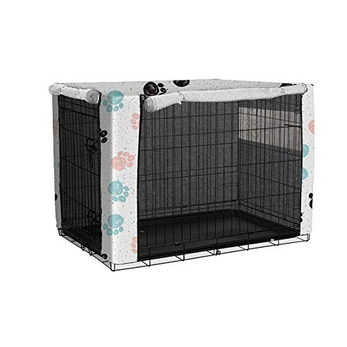 Funda para jaula de perro, duradera y resistente al viento, cubierta de lino, utilizada para protección interior y exterior de jaulas de alambre, casas pequeñas para mascotas (XXL)