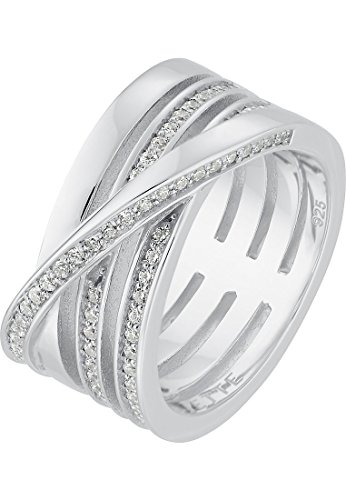 JETTE Silver Damen-Damenring 925er Silber 67 Zirkonia 53 Silber 32003946
