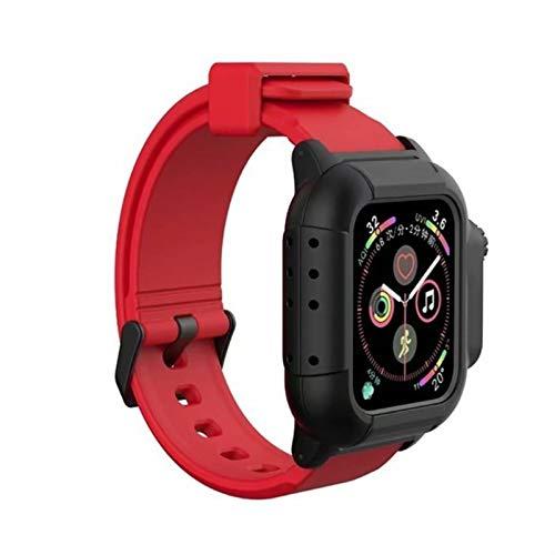 SRBH Funda Impermeable para Apple Watch Band Iwatch Bandas 44mm 40mm 42mm Correa de Silicona Pulsera Accesorios de Reloj Inteligente Bucle