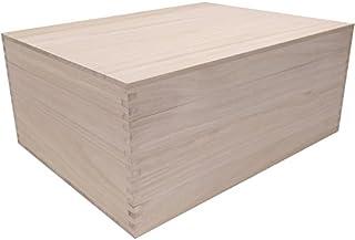 桐箱 高級アリ組(ロッキング)仕様総桐箱 4L-Hサイズ (A3サイズの書類もラクラク収納、大型和製用品の収納に最適)