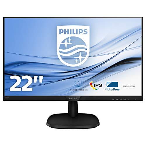 Philips Monitors 223V7QDSB/00 - 22', FHD, 75Hz, IPS, Flicker Free, (1920x1080, 250cd/m² VESA, DSUB, HDMI, DVI)