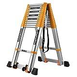 Yuzhonghua Cinta de Escalera portátil Plegable de Aluminio de Escalera de altillo de Carga Escalera 150 kg 2.7 + 2.7m