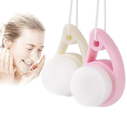 Gesichtsreinigungsbürste Manuelle Reinigungsbürste Gesicht Gesichtsbürste Massagebürste für Gesicht Ultra Soft Exfoliating Bürste Gesichtsreinigung Waschbürste für Tiefenreinigung (Weiß)