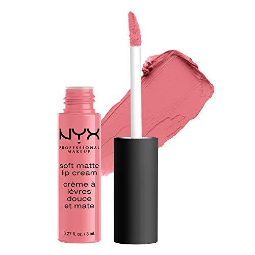 NYX Professional Makeup Lippenstift, Soft Matte Lip Cream, Cremiges und mattes Finish, Hochpigmentiert, Langanhaltend, Vegane Formel, Farbton: Cyprus