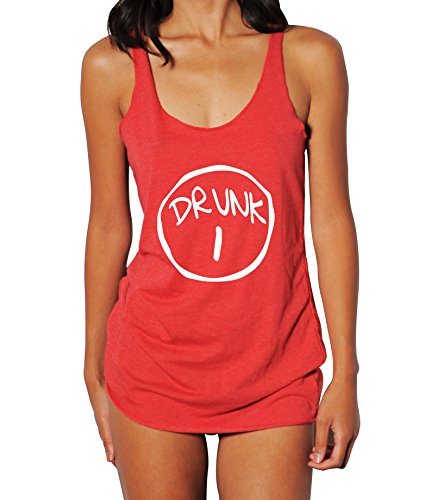 Emdem Apparel Drunk 1 Drunk 2 Womens Tank Top Red D1 SM