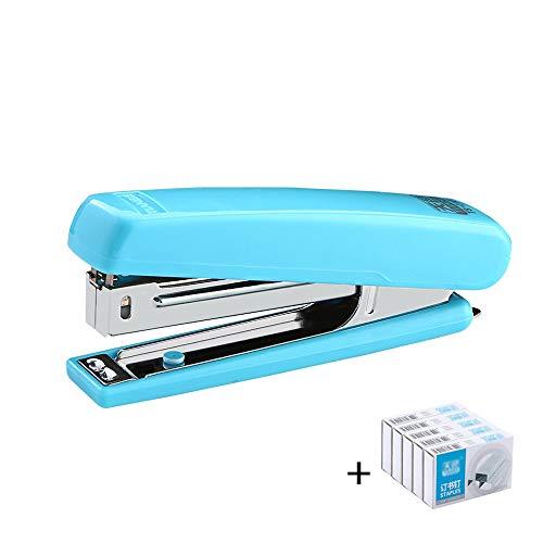 Nietmachine glad mat materiaal nietmachine, 20 vel capaciteit gebruikt nietjes 24/6, geïntegreerde nagel trekker en gemakkelijk te dragen - groen ++ Blauw-b