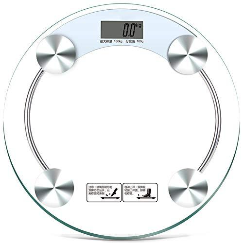 Báscula electrónica de salud Báscula familiar Báscula del cuerpo humano Báscula redonda Báscula de baño doméstica Báscula electrónica digital de alta precisión