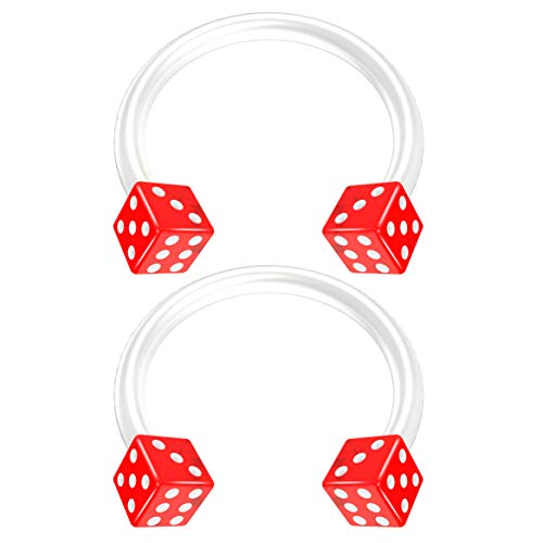 Bling Piercing BQCBHSBFX10DICEAC16G-RED