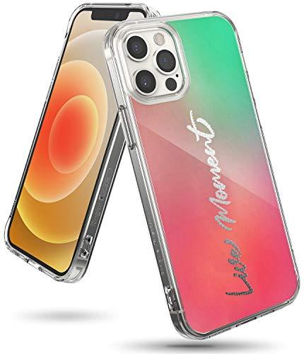 Ringke Fusion Design Compatible con Funda iPhone 12 Pro (2020) / Compatible con Funda iPhone 12 (6,1 Pulgadas), Fina Slim Rigida Carcasa Parachoque TPU - Live Moment