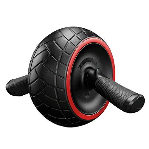 HUYHUY Huyhuyno Noise Abdominal Wheel Round AB Rollers For Core Trainer Waist Arm Strength Exercise Body Building Press Gym Fitness-Black