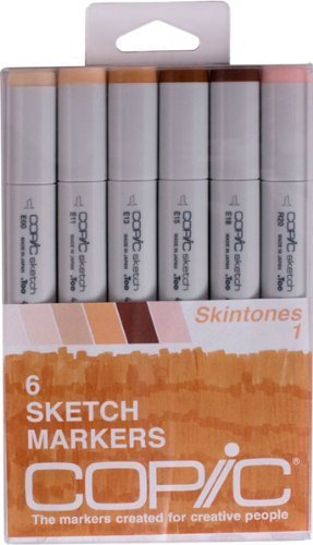Pennarelli Copic 6 pezzi Sketch Set, Skin Tones I by Copic Marker
