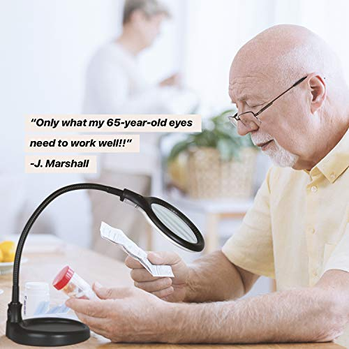 Brightech LightView Pro Flex Magnifying Lamp - 2 in 1 Clamp Table