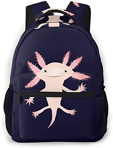 Cute whale Basic Travel Laptop Zaino Cool School Bag-Cute Axolotl