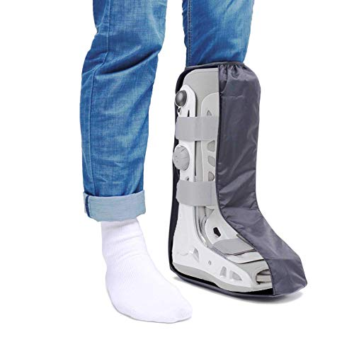 Life-C Walking Boot Cover Medical Cast Fracture Orthopedic Brace Leg Foot Support with Sole High Tall Black M