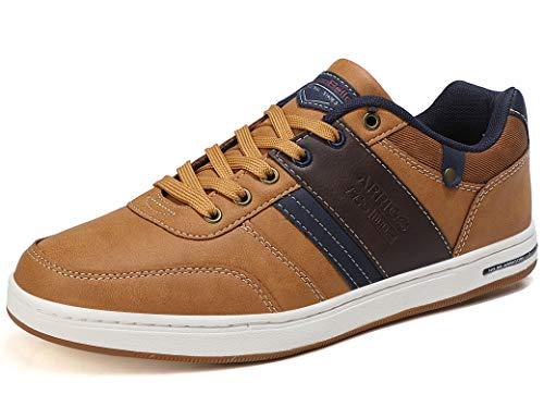 ARRIGO BELLO Zapatos Hombre Zapatillas para Vestir Casual Deportivas Confort PU Cuero Deporte Sneakers Talla 41-46(marrón,43)