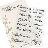 Clear Stamp Set Stempel Gummi Karten Kunst   Kombi Set Quer durchs Jahr 2