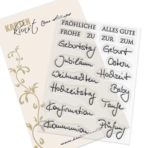 Clear Stamp-Set Stempel-Gummi Karten-Kunst - Kombi-Set Quer durchs Jahr 2