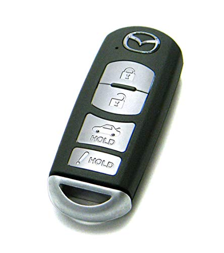 OEM 4-Button Smart Key Fob Remote Compatible With 2014-2018 Mazda 3 & 6 (FCC ID: WAZSKE13D01, P/N: GJY9-67-5DY)