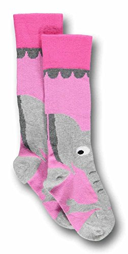 Ubang Elefant Talkie Walkie - Strümpfe für Kinder pink Schuhgröße 18-20