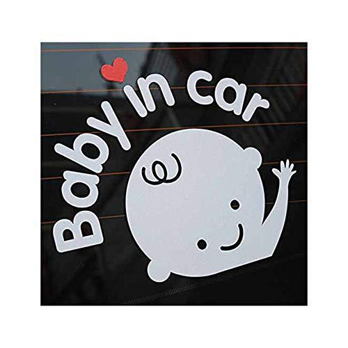 Alamor Baby In Car Waving Baby On Board Segno Di Sicurezza Cute Car Decal Vinyl Sticker