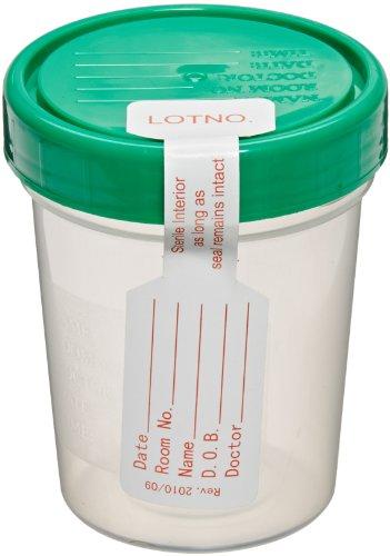 Sterile Specimen Cups, Set of 3, Screw Cap, Tamper Evident, 4 oz.