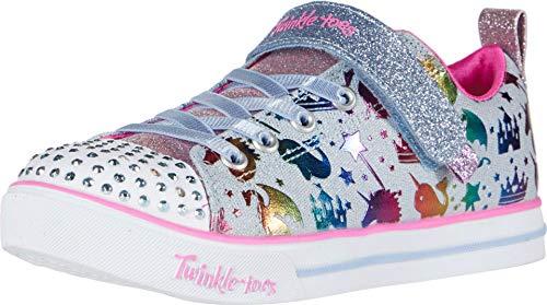 Skechers girls Sparkle Lite - Princessland Sneaker, Light Denim Multi, 11 Little Kid US