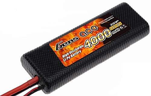 Gens ace LiPo Batterie 4000mAh 7.4V 25C 2S Hardcase pour RC Car Hélicoptères Avion Truck