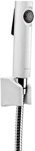 Kohler - 98100IN-0 Cuff Health Faucet, Premium Hygiene Spray with Metal Hose and Holder (White)