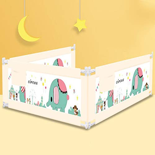 Fantastic Deal! Wagsuyun Bed Bolster Crib Fence Bed Guardrail Vertical Lifting Bed Rails for Toddler...