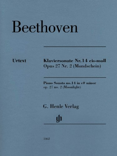 Klaviersonate Nr. 14 cis-moll Opus 27 Nr.2 (Mondschein)