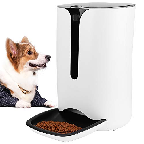 ANKII Automatic Pet Feeder Smart Food Dispenser for Cats and Dogs, Portion Control, Voice Recorder, Timer Programmable, 7L Up to 4 Meals per Day
