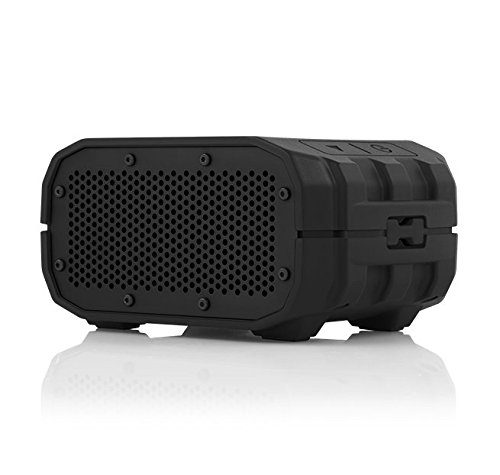 BRAVEN BRV-1s Portable Wireless Bluetooth Speaker [12 Hours][Waterproof] Built-in 1400 mAh Power Bank Charger - Black/Black