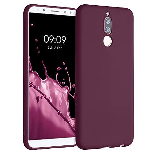 kwmobile Carcasa para Huawei Mate 10 Lite - Funda para móvil en TPU Silicona - Protector Trasero en Violeta Burdeos