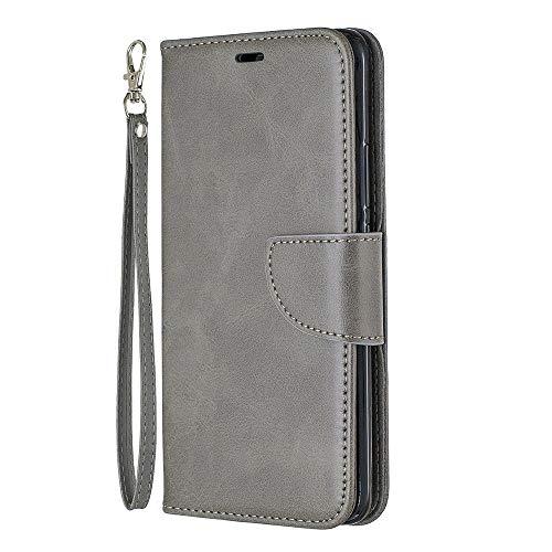 Zl One Compatível com/Substituição para Capa de telefone Huawei Mate 20 Pro PU Couro Proteção Cartão Slots Capa Carteira Flip Capa (Cinza)
